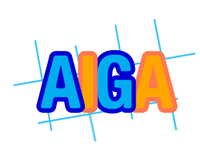 Four Letters theme with AIGA listed as the example