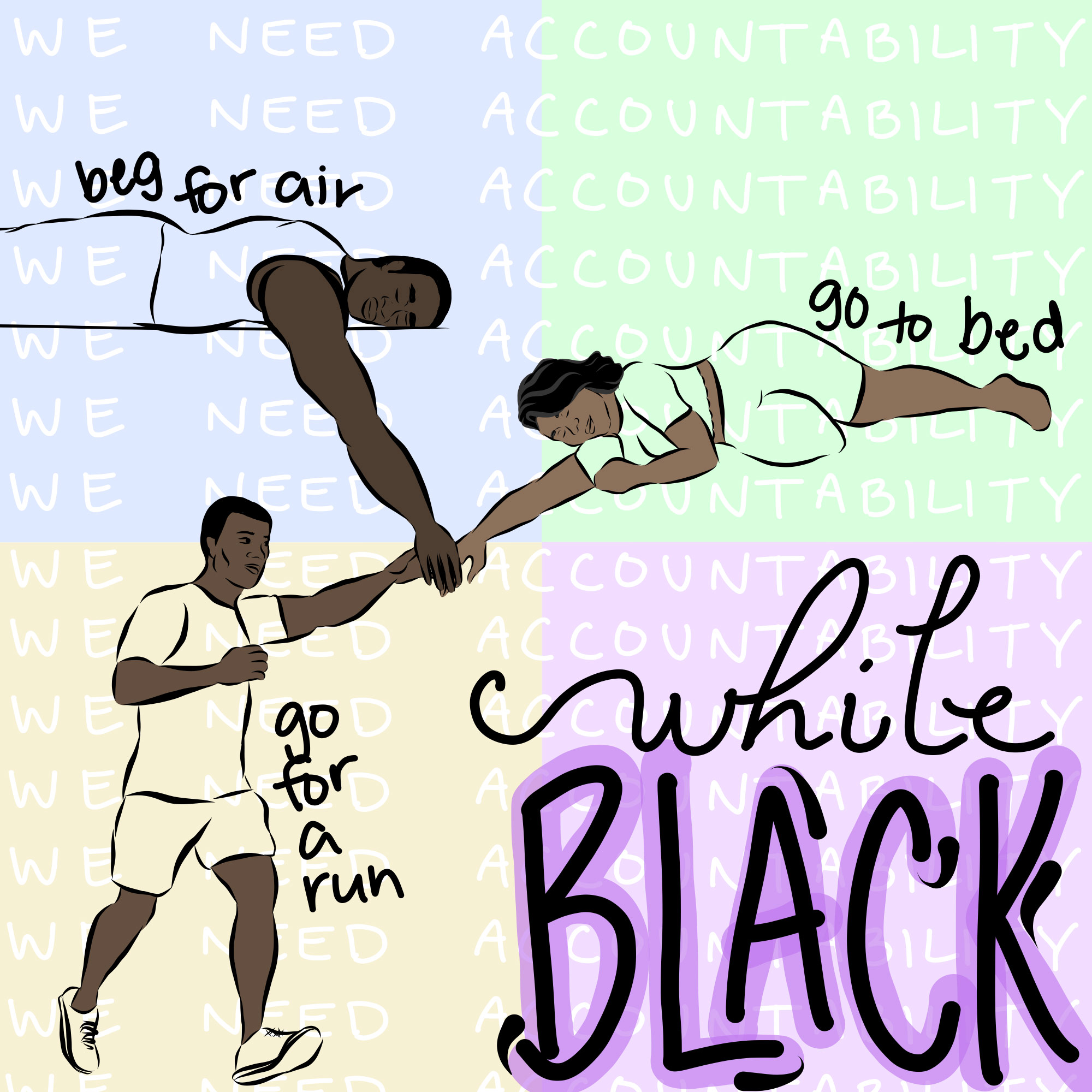 Beg for air, go to bed, go for a run...while black.