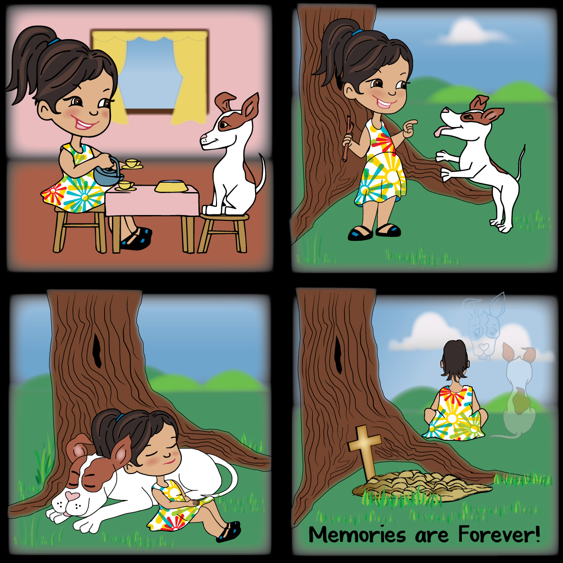 The life of a best friend and her dog from start to finish.